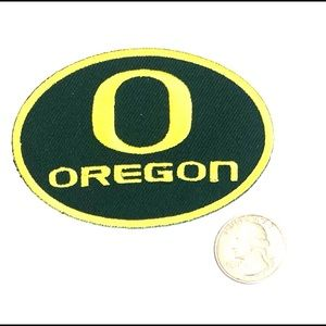 Oregon patch iron on football badge DIY ducks